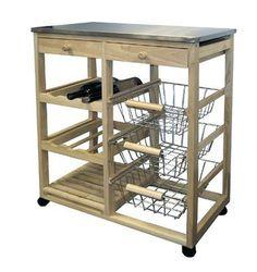 Ore International Kitchen Cart - Wood