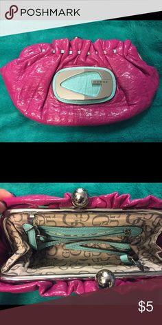 Guess purse Pink hand purse Guess Bags Clutches & Wristlets