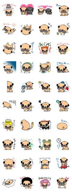 The lovely Sticker!! I love Pug!!