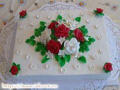 Torta Červené a biele ruže _ Red and white roses _ Jedinečné a unikátne torty od Ivanky a Slavomíra * Unique cakes * Jedinečné a unikátní dorty