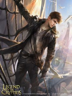 "(Open rp be him. Credit to: @ringronies) I walk to the ship docks and look around for the name of the ship I had bought passage on. I finally see it and walk up to it hesitating to board. ""Will you be boarding anytime soon?"" I hear a voice say and look up startled. My eyes find a handsome young man grinning and looking down at me from the deck. I quickly grab my bag and walk onto the deck. ""Yes sorry."" I say blushing slightly. ""No need to apologize."" He winks. ""I'm Captain West."""