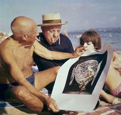 Pablo Picasso and Jacques Prévert by Robert Doisneau, 1963