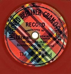 Vintage LP record belonging to the 'Kilties Touring Band' also known as the 'Regimental Band of the Gordon Highlanders.