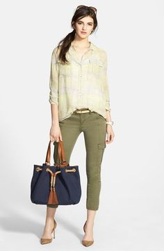 Two by Vince Camuto Utility Blouse & KUT from the Kloth Cargo Pants  available at #Nordstrom