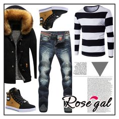 """""""Rosegal"""" by semiragoletic ❤ liked on Polyvore featuring men's fashion and menswear"""