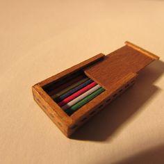 Dolls House Miniature Pencil Box 1 12 Scale | eBay