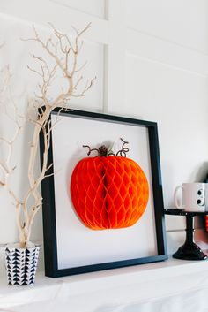 How to Style a Traditional Halloween Mantel...