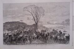1867 PRINT THE OXFORD AND CAMBRIDGE BOAT RACE SEEN FROM THE  SANDHILLS