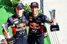Daniel Ricciardo, Daniil Kvyat, Red Bull, Formule 1 Grand Prix van Hongarije 2015, Formule 1