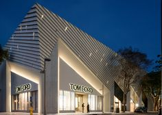 US firm Aranda\Lasch has completed a store for designer Tom Ford in the Miami Design District, featuring an angular facade referencing bold Art Deco motifs