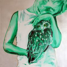 Saatchi Online Artist: Jessica Watts; Oil, Painting Night Owl