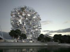 フランス・モンペリエの「白い木」藤本壮介設計