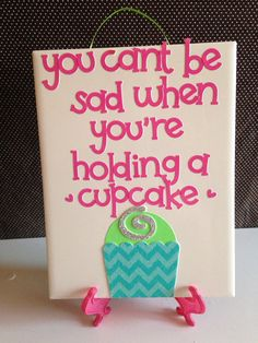 Holding+A+Cupcake+Quote+KITCHEN+DECOR+Ceramic+Wall+Hanging+