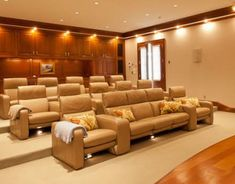 home theater--i'd make quilts for every seat