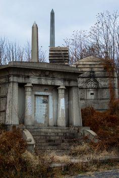 Philadelphia's abandoned Mt. Moriah cemetery (1855).