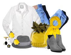 """""""Traditional with a modern twist"""" by no-where-girl ❤ liked on Polyvore featuring Levi's, Hermès, Krewe and modern"""