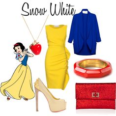 Snow White, created by #lacey-kay on #polyvore. #fashion #style Emilio Pucci Anya Hindmarch