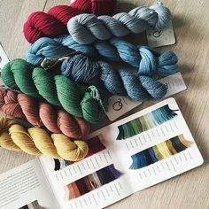 Quince & Co. yarns and color cards.