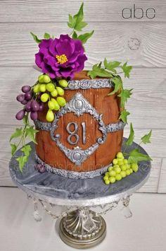 Flowery Barrel Cake by Ashwini Tupe