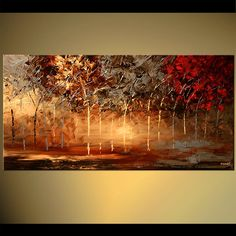 Modern Landscape Painting , Textured Abstract painting , trees Painting , Forest Painting by Osnat - Beautiful Landscape Paintings, Modern Landscape Painting, Modern Painting, Abstract Painting, Tree Painting, Painting, Abstract, Forest Painting, Abstract Floral Paintings