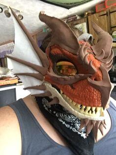 Fursuit Tutorial, Dinosaur Mask, Mask Ideas, Wings Of Fire, Furry Art, Masks, Tutorials, Cosplay, Costumes