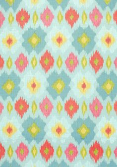 BIMINI IKAT, Blue and Orange, F95729, Collection Biscayne from Thibaut