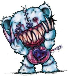 Free for personal use Evil Teddy Bear Drawing of your choice Graffiti Art, Wie Zeichnet Man Graffiti, Graffiti Drawing, Creepy Drawings, Dark Art Drawings, Creepy Art, Voodoo Doll Tattoo, Voodoo Dolls, Emo Art