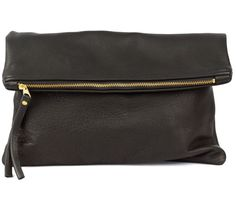This oversized leather clutch makes the perfect gift for your fashionista friend!