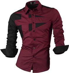 Abetteric Men Top Blouses Crew-Neck Long Sleeve Knit Bodycon Skinny Tunic Shirt