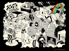 See our previous #20things 2010- weaved into a single artwork. Can you name all 20? Artwork by #McBess , #20things #syzygy #syzygylondon  Illustration by #McBess - McBess, AKA Matthieu Bessudo, is a French musician, artist & illustrator extraordinaire who lives in London. He usually only works in black and white, but made an exception for his cartoonish #20Things 2010. Check it out..
