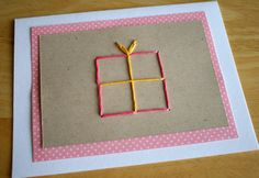 How to make a hand stitched greeting card