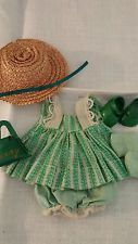 Vintage Ginny Doll Vogue Green Dress Shoes Purse etc  Muffie Ginger