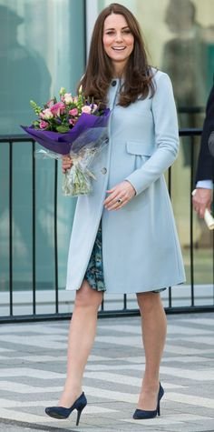 Kate Middleton's Best Maternity Outfits - Brilliant in Blue from #InStyle