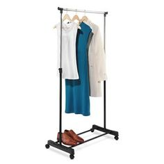 "Portable 33""W Garment Rack"