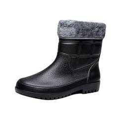 Comprar Ofertas de LvRao Boots Altura Mitad de los Hombres Botas 9159dd595d8e