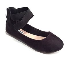Anna Girl Kids Dress Ballet Flat Elastic Ankle Strap Comfortable Ballerina BLACK Synthetic Suede Shoes 10 US Toddler ANNA http://www.amazon.com/dp/B014YZSMO2/ref=cm_sw_r_pi_dp_5u.Gwb1VMFD1R