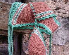 crochet bikini Simply Red Crochet Vintage by GoodMoodCreations