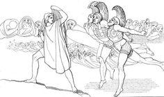Odiseo en el Hades-John flaxman