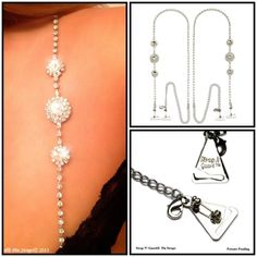 853ca1c3a1f04 Stylish Princess Crystal Bra Dress Straps (w  Pin-On Bra Hooks) Ultimate  Strapless Support