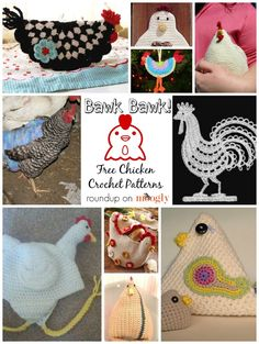 Bawk Bawk Chicken Lovers! 10 Free Chicken Crochet Patterns! Read more at http://www.mooglyblog.com/chicken-crochet-patterns/#rW3z6iX3GJOj4QRT.99