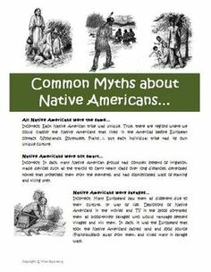FREE Native American Myths and Misconceptions