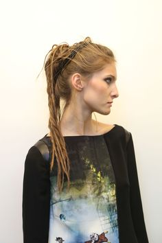 We suspected dreadlocks would feature at London Fashion Week! Entwined braids and texturised dreadlocks gave models individual hair looks at the Gyunel show where the Wella Professionals team put the new new styling range, EIMI, to good use backstage.   - Cosmopolitan.co.uk