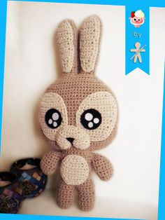 Crocheted by AmigurumiesFanClub. Pattern by Chiquipork !!! https://www.etsy.com/es/listing/177755748/mr-bunny-crochet-pattern-patron-pdf?ref=shop_home_active_2