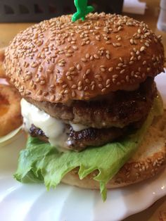 Double cheeseburger (large)