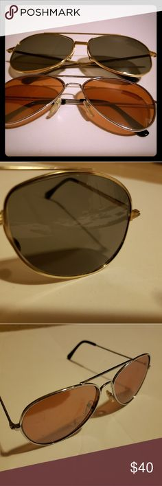 0ad4e8379 2 pair of vintage aviator sunglasses. Foster Grant 2 pairs of vintage aviator  sunglasses .