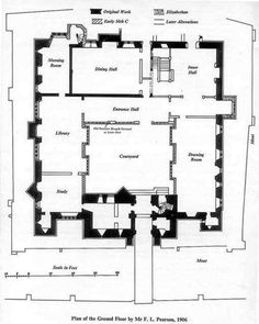 castle floor plan plans hever medieval tudor kent castles history ground manor palace mansion england court od studing ua dynasty