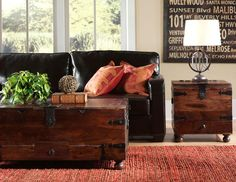 Featuring rustic styling and vintage details, this truly unique coffee table from our Maldives Collection offers an interesting look that will instantly refresh the look of your home. Designed to appear like a vintage trunk, this coffee table offers convenient storage space for blankets, throw pillows and other necessities.