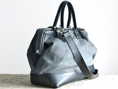 Charcoal Waxed-Canvas Bag by Sydney & Sons