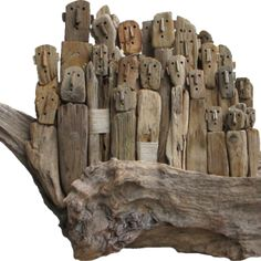 M Bourlier ... Driftwood People Art