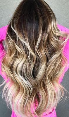 balayage bronde hair color